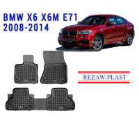 All Weather Rubber Floor Mats Set For BMW X6 X6M E71 2008-2014 Black
