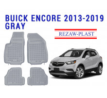 All Weather Rubber Floor Mats Set For BUICK ENCORE 2013-2019 Gray