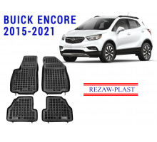 All Weather Rubber Floor Mats Set For BUICK ENCORE 2015-2021 Black