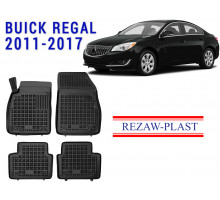 All Weather Rubber Floor Mats Set For BUICK REGAL 2011-2017 Black
