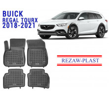 All Weather Rubber Floor Mats Set For BUICK REGAL TOURX 2018-2021 Black
