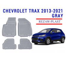Rezaw-Plast Rubber Floor Mats Set for Chevrolet Trax 2013-2021 Gray