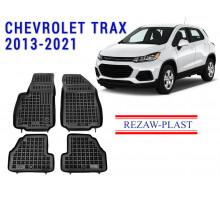 Rezaw-Plast Rubber Floor Mats Set for Chevrolet Trax 2013-2021 Black