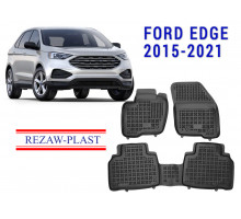 Rezaw-Plast Rubber Floor Mats Set for Ford Edge 2015-2021 Black