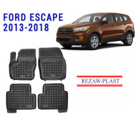 All Weather Rubber Floor Mats Set For FORD ESCAPE 2013-2018 Black