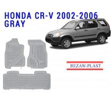 All Weather Rubber Floor Mats Set For HONDA CR-V 2002-2006 Gray