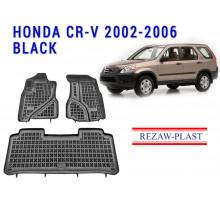 All Weather Rubber Floor Mats Set For HONDA CR-V 2002-2006 Black