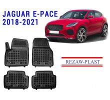 All Weather Rubber Floor Mats Set For JAGUAR E-PACE 2018-2021 Black