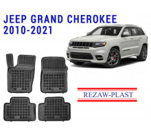 All Weather Rubber Floor Mats Set For JEEP GRAND CHEROKEE 2010-2021 Black