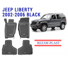 All Weather Rubber Floor Mats Set For JEEP LIBERTY 2002-2006 Black