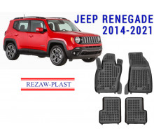 All Weather Rubber Floor Mats Set For JEEP RENEGADE 2014-2021 Black