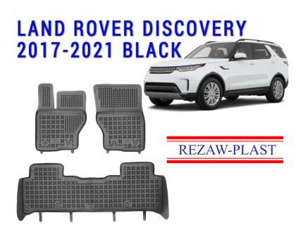 Rezaw-Plast Rubber Floor Mats Set for Land Rover Discovery 2017-2021 Black