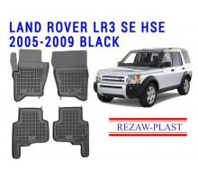 All Weather Rubber Floor Mats Set For LAND ROVER LR3 2005-2009 Black