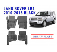 All Weather Rubber Floor Mats Set For LAND ROVER LR4 2010-2016 Black