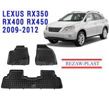 Rezaw-Plast Floor Mats Set for Lexus RX350 RX400 RX450 2009-2012 Black