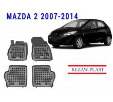 Rezaw-Plast Rubber Floor Mats Set for Mazda 2 2007-2014 Black