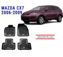 Rezaw-Plast Rubber Floor Mats Set for Mazda CX7 2006-2009 Black