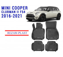 All Weather Rubber Floor Mats Set For MINI COOPER CLUBMAN II F54 2016-2021 Black