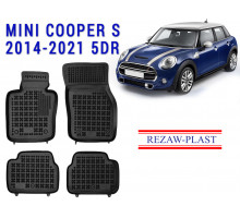 All Weather Rubber Floor Mats Set For MINI COOPER S 2014-2021 5DR Black