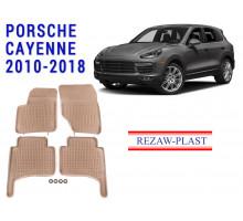 All Weather Rubber Floor Mats Set For PORSCHE CAYENNE 2010-2018 Beige