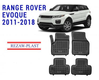 All Weather Rubber Floor Mats Set For RANGE ROVER EVOQUE 2011-2018 Black