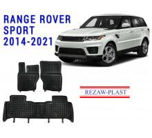 All Weather Rubber Floor Mats Set For RANGE ROVER SPORT 2014-2021 Black