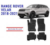 Rezaw-Plast Rubber Floor Mats Set for Range Rover Velar 2018-2021 Black