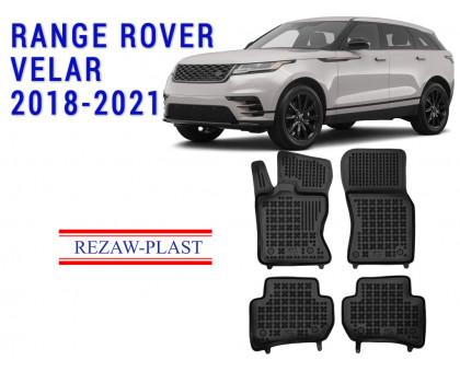 All Weather Rubber Floor Mats Set For RANGE ROVER VELAR 2018-2021 Black
