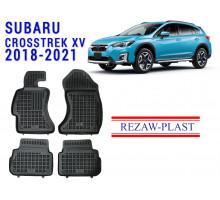 All Weather Rubber Floor Mats Set For SUBARU CROSSTREK XV 2018-2021 Black