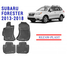 All Weather Rubber Floor Mats Set For SUBARU FORESTER 2013-2018 Black