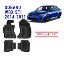 All Weather Rubber Floor Mats Set For SUBARU WRX STI 2014-2021 Black