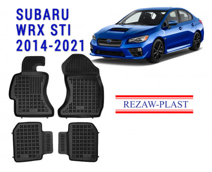 Rezaw-Plast Rubber Floor Mats Set for Subaru WRX STI 2014-2021 Black