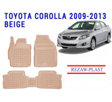 All Weather Rubber Floor Mats Set For TOYOTA COROLLA 2009-2013 Beige