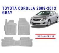 Rezaw-Plast Rubber Floor Mats Set for Toyota Corolla 2009-2013 Gray