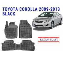 All Weather Rubber Floor Mats Set For TOYOTA COROLLA 2009-2013 Black