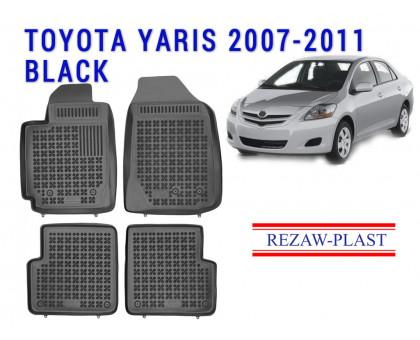 Rezaw-Plast Rubber Floor Mats Set for Toyota Yaris 2007-2011 Black