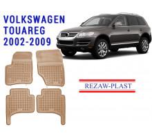 Rezaw-Plast Rubber Floor Mats Set for Volkswagen Touareg 2002-2009 Beige