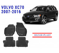 All Weather Rubber Floor Mats Set For VOLVO XC70 2007-2016 Black