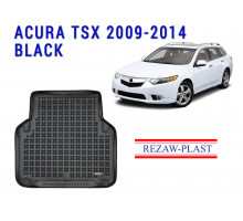 All Weather Rubber Trunk Mat For ACURA TSX 2009-2014 Black