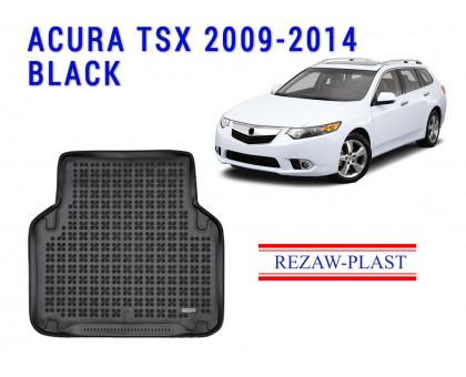 Rezaw-Plast Rubber Trunk Mat for Acura TSX 2009-2014 Black
