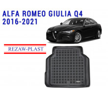 All Weather Rubber Trunk Mat For ALFA ROMEO GIULIA Q4 2016-2021 Black