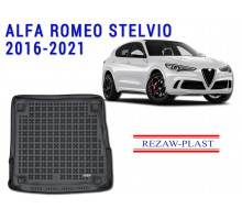 All Weather Rubber Trunk Mat For ALFA ROMEO STELVIO 2016-2021 Black