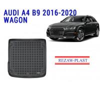 Rezaw-Plast Rubber Trunk Mat for Audi A4 B9 2016-2020 Wagon Black