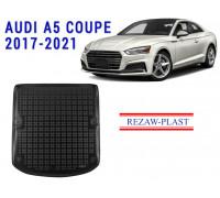 Rezaw-Plast Rubber Trunk Mat for Audi A5 Coupe 2017-2021 Black