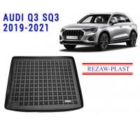 Rezaw-Plast Rubber Trunk Mat for Audi Q3 SQ3 2019-2021 Black