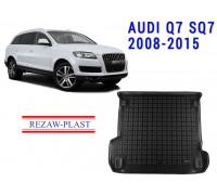 Rezaw-Plast Rubber Trunk Mat for Audi Q7 SQ7 2008-2015 Black