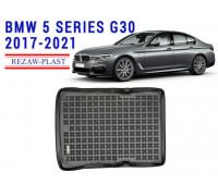 Rezaw-Plast Rubber Trunk Mat for BMW 5 Series G30 2017-2021 Black