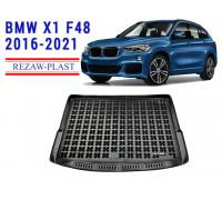 Rezaw-Plast Rubber Trunk Mat for BMW X1 F48 2016-2021 Black