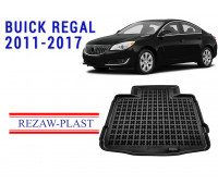 All Weather Rubber Trunk Mat For BUICK REGAL 2011-2017 Black