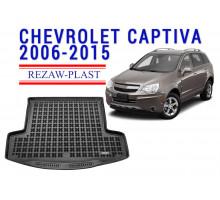 Rezaw-Plast Rubber Trunk Mat for Chevrolet Captiva 2006-2015 Black